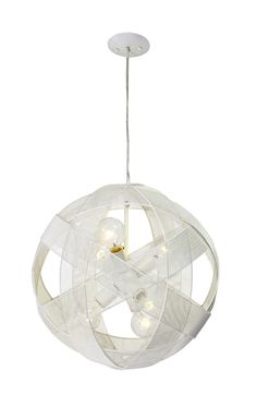 Six Light Foyer Pendant $399  (Comes in 1/3/6 lights in navy, white, and red)