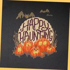 Spooky Pumpkin Patch Cross Stitch Pattern by StitchNotions on Etsy, $3.50