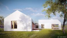 Zdjęcie numer 3 w galerii - Czysta biel i ciepłe drewno. Parterowy dom jednorodzinny z Warszawy