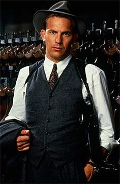 """Kevin Costner stars as federal agent Eliot Ness in the 1987 Brian de Palma blockbuster film, """"The Untouchables. Kevin Costner, Tyler Durden, I Movie, Movie Stars, Eliot Ness, Andy Garcia, Epic Story, Sean Connery, Cinema Movies"""
