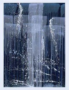 Pat Steir, from her  'Winter Paintings' series.