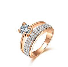 Fashion Rings gold plated anillos wedding by BeautifulJewelryByMk