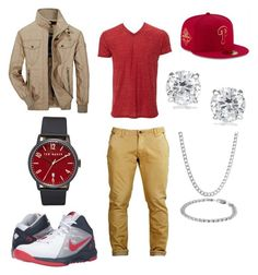 """Sexy Man!"" by torresxox on Polyvore featuring Jeep Rich, NIKE, Ted Baker, New Era, Journee Collection, Belk & Co., men's fashion and menswear"