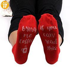 Ularma Damen Herren Warme Buchstabe Gestrickte Socke Baumwolle mehr Farben (Rot) - Shirts mit spruch (*Partner-Link)