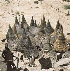 seshatarchitecture:  Matakam houses in Cameroon. |Found on britannica.combyRene Gardi