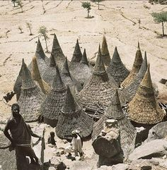 seshatarchitecture:  Matakam houses in Cameroon. | Found on britannica.com by Rene Gardi