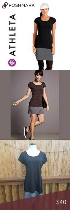 ATHLETA Colorblock 'ELLA' Black Grey Dress ATHLETA Colorblock 'ELLA' Black Grey Dress. Excellent condition.  Size Large Athleta Dresses