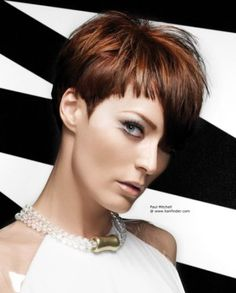 Short hairstyle with an asymmetrical