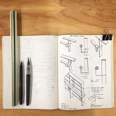 Sketches For A Steel Handrail And Related Connections. #architecture #design  #detailing #