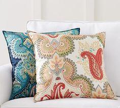 Linden Print Silk Pillow Cover #potterybarn