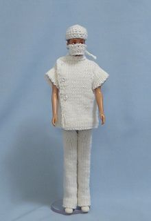Ravelry: No. 1002 Doctor's Uniform, Cap and Mask pattern by Hilde Fuchs