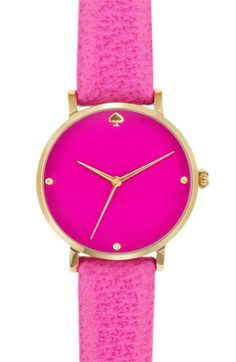 kate spade new york 'metro' leather strap watch | Nordstrom