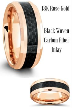 6mm Black Titanium Ring With Grade AA Cubic Zirconia Channel