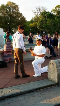 The American Military Partner Association posted this photo of the proposal to Facebook shortly after — in one day, the image had 1.3 millio...