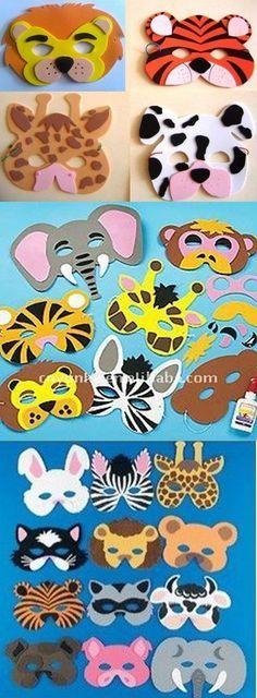 Pin by Anita Janzen on Kinderstunde Felt Crafts, Diy And Crafts, Crafts For Kids, Arts And Crafts, Paper Crafts, Carnival Crafts, Felt Mask, Alphabet Crafts, Animal Masks