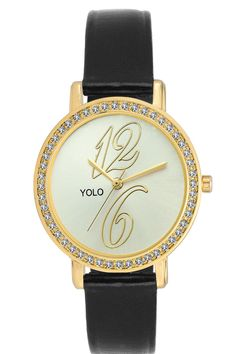 YOLO Womwn White Dial Analog Wrist Watch with Black Strap Is A Unique And Innovative Product In The Wrist Watches Market. This Amazing, Stylish Fashion Watch Has Arrived To Complement Your Look And Attitude.