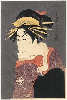 "Hirano Hakuho /""Nude Lady Arranging Her Hair/"" Print Ukiyo-e Shinsui Japan Art"