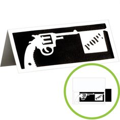 The Gun Show Father's Day Card looks great in black and white!