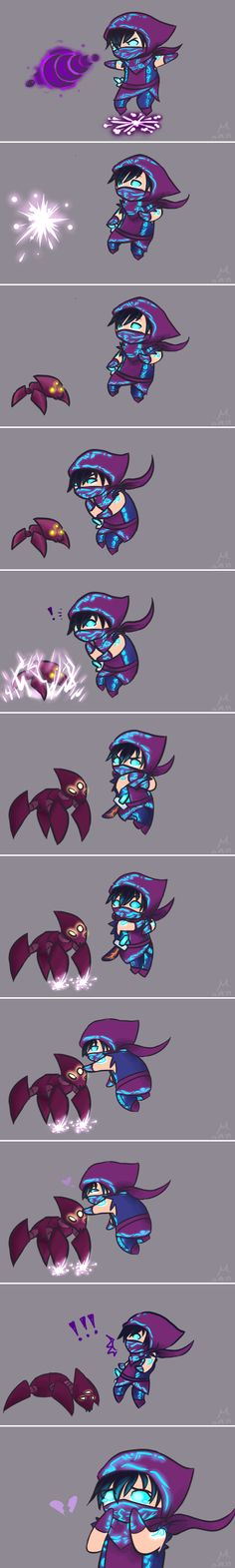 Just a Thought. by Mot-Mithra on deviantART -- Awww, I do hate it when Malzahar's little voidlings run out of time and die.  It's so pathetic.