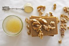 Get inspired by items in your pantry with this DIY Honey Walnut Milk Soap! Moka, Diy Masque, Beauty Hacks For Teens, Honey Soap, Soap Making Supplies, Homemade Soap Recipes, Handmade Soaps, Handmade Ideas, Diy Soaps