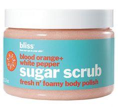 Bliss Blood Orange + White Pepper Body Scrub on Belle Belle Beauty