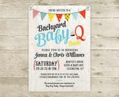 Co-Ed Baby Shower Invitation - BBQ Baby Q by CelebrateBabyCo on Etsy https://www.etsy.com/listing/276115996/co-ed-baby-shower-invitation-bbq-baby-q
