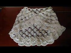 Saia de Praia em Crochê 1/2 - YouTube Crochet Skirt Pattern, Crochet Clutch, Crochet Skirts, Crochet Yarn, Crochet Clothes, Knit Crochet, Crochet Patterns, Beach Wrap Skirt, Lace Mini Skirts