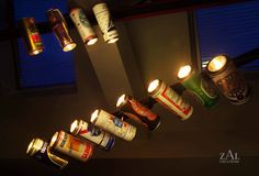 Vintage Beer can Track light. 1. by ZALcreations on Etsy, $87.00