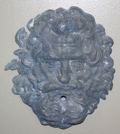 Brighton Lead Mask - New England Garden Ornaments Garden Shop, Garden Art, Brighton, New England, Wall Fountains, Lion Sculpture, It Cast, Copper, Statue