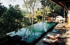 Como Shambhala  This beautiful spa in Bali has a resident psychologist and is where Donna Karan comes to rest and rejuvenate.  www.comoshambhala.bz