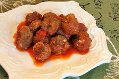 30 Minute Gluten Free Meatballs - I just used the cooking instructions.  I used the leftovers from the venison potstickers recipe mixed with 1/3 lb of ground beef for the meatballs.