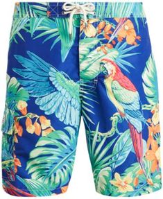 Raptor Breaking Out Low Polygon Mens Printing Boardshorts Dry Fit Bathing Suit with Pockets