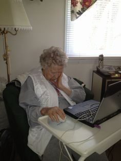 Playing Solitaire at the age of 95 can get exhausting!