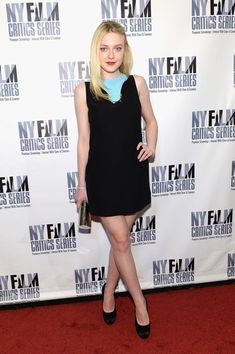 """Dakota Fanning in Versace attends the New York Film Critic Series premiere of """"Every Secret Thing"""" - April 27, 2015"""
