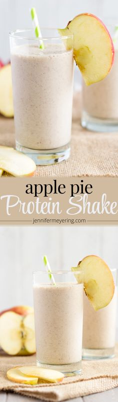 Apple Pie Protein Smoothie | JenniferMeyering.com