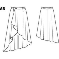 Hi Low Asymmetrical Wrap Skirt 01/2015#108B