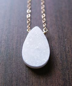 Teardrop Druzy Necklace