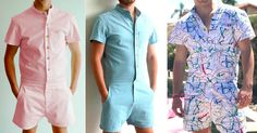 Rompers For Males Apparently, there's a brand new pattern sure to burst this summer time. We're speaking particularly about Rompers For Males! Romper Men, Plastic Clothes Hangers, New Trends, Lace Shorts, Summer Outfits, Men Casual, Menswear, Short Sleeve Dresses, One Piece