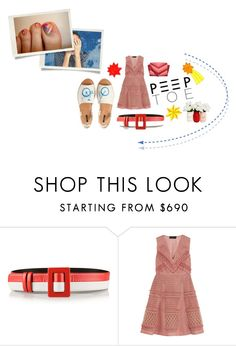 """zoey goes for a bike ride"" by meadowbat ❤ liked on Polyvore featuring Oscar de la Renta, Burberry, MICHAEL Michael Kors, Spring, peeptoeshoes and pedicure"