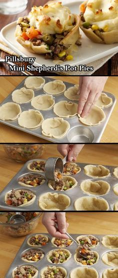 RECIPE: Pillsbury Mini Shepherd's Pot Pies. Halloween Horrors in Victorian London Party Decorating & Ideas