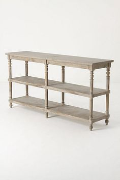 Great console table for the entry way, long and narrow with beautiful rustic detail.