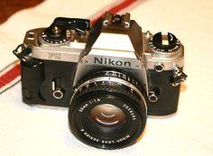 Nikon FG Camera Body-35 mm SLR Film Camera with 50mm lens-Film still rocks!     My first!  :)