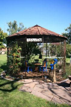 Corn crib gazebo.  We used to have a crib at the farm, don't know what happened to it....darn it!