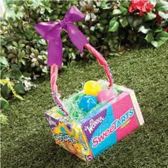 "Edible Easter Basket--the solution to ""what to do with all these baskets"""