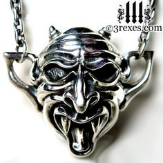 Silver Vampire Necklace Gothic Gargoyle Devil on Etsy, £312.54