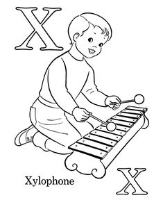 XYLOPHONE COLORING PAGES | 288x235