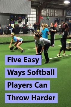 Easy Ways Softball Players Can Throw Harder In this article, I share five simple ways any girl can improve her arm strength and arm health - to throw faster and feel better.Feel Feel may refer to: Softball Party, Softball Cheers, Softball Crafts, Softball Quotes, Softball Shirts, Softball Players, Girls Softball, Softball Stuff, Softball Hair