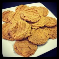GLUTEN FREE PB Cookies  1 egg    3/4 cup Sugar    1 tsp. Baking Soda    1/2 tsp. Gluten Free Vanilla    1 Cup Creamy Gluten Free Peanut Butter    *you can add in chocolate chips or other mix ins!