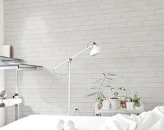 White Brick Wall Ideas to Change your Room Look Great - Home Curiousity B&w Wallpaper, White Brick Wallpaper, White Brick Walls, Temporary Wallpaper, Black And White Wallpaper, Nursery Wallpaper, Self Adhesive Wallpaper, Colorful Wallpaper, Peel And Stick Wallpaper