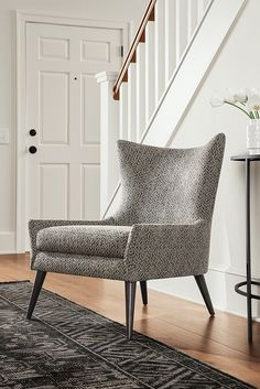 Lola Chair In Tova Fabric Modern Accent Lounge Chairs Living Room Furniture Board